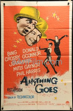 Happy Birthday #DonaldOConnor https://eartfilm.com/search?q=donald+o%27connor #actors #acting #dancers #dancing #dance #AnythingGoes #SinginintheRain #MakeEmLaugh #movie #movies #poster #posters #film #cinema #movieposter #movieposters    Anything Goes-Bing Crosby-Donald O'Connor-Mitzi Gaynor-Music By Cole Porter-1956