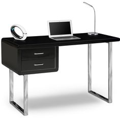 99+ Black and Chrome Desk - Executive Home Office Furniture Check more at http://www.sewcraftyjenn.com/black-and-chrome-desk/