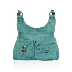 Washable Women's Leather Crossbody Casual Messenger Bag