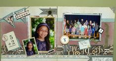 Well, I finally got around to scrapbooking my youngest daughter's school pictures. Next, I have to work on my older daughter. To do both, ...