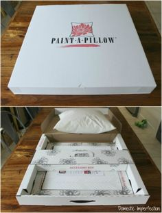The Paint-A-Pillow kit makes painting accent pillows easy. http://paintapillow.com
