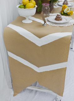 painted paper table cover