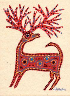 Tree Bark Illustration Art Ideas For 2019 Pichwai Paintings, Indian Paintings, Indian Folk Art, Mexican Folk Art, Art And Illustration, Drawing Painting Images, Kunst Der Aborigines, Madhubani Art, Deer Art