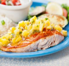 Recipes/Dinner/Salmon-with-Sweet-Salsa | Zone Diet | Home of Anti-Inflammatory Nutrition