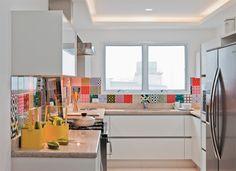 Cozinha  atual... no Jeito de Casa