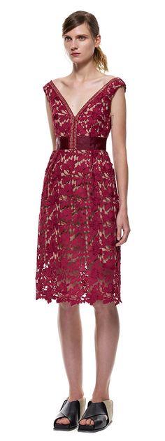 off-shoulder lace dress