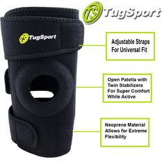 TugSport Knee Brace for all around support! Get yours on Amazon  http://ez81.com/QsXWd84
