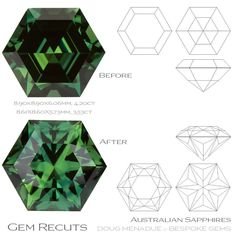 ere's an example of the difference that design selection can make in gem. I had the opportunity last week to recut two fine Australian Minerals And Gemstones, Crystals Minerals, Rocks And Minerals, Gems Jewelry, Jewellery, Gem Drawing, Stone Tattoo, Cuttings, Geology