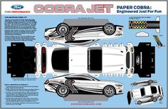 Chevrolet Paper Car Models | Link: 2016`s.Ford.Mustang.Cobra.Jet.Paper.Model.by.Ford.Performance ...