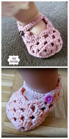 Crochet Shoes Pattern, Baby Shoes Pattern, Crochet Baby Booties, Crochet Slippers, Baby Patterns, Crochet Patterns, Crochet For Kids, Diy Crochet, Crochet Crafts
