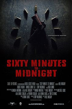 I'm Jack Darcy in 60 MINUTES TO MIDNIGHT, the new action thriller from @Slate10Pictures. Directed by Neil MacKay. Screenplay by Terry McDonald. -- 'On New Years Eve 1999, a construction worker (Robert Nolan) finds himself starring on a game show that kills it's contestants.'