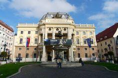 Slovak National Theatre at Old Town Bratislava Slovakia