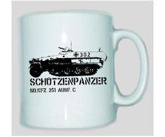 Tasse Schützenpanzer SD.KFZ 251 / mehr Infos auf: www.Guntia-Militaria-Shop.de