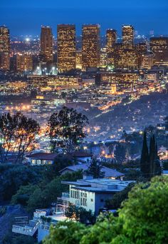 One night, My friend Tom and I went up to the top of Runyon Canyon to shoot the city. On the walk up, I liked the view of one of the palatial Hollywood Hills homes through the valley. I zoomed in with(Cool Places In California)