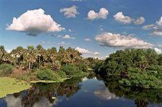 Paisaje de Río y Nubes, Chaco Paraguayo. Foto Cortesía © Fernando Allen