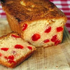 Cherry Pound Cake - Rock Recipes -The Best Food Photos from my St. Cherry Loaf Recipes, Cherry Bread, Best Cherry Cake Recipe, Cherry Loaf Cake, Holiday Baking, Christmas Baking, Christmas Desserts, Christmas Treats, Holiday Treats