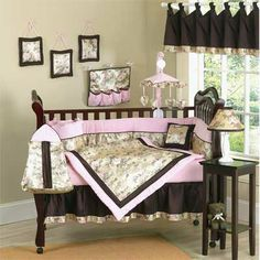 camo nursery ideas | Buy Pink camouflage crib bedding from top rated stores. Comparison ...