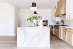 Maple Leaf Kitchen - Contemporary - Kitchen - San Diego - by Savvy Interiors White Oak Kitchen, Kitchen And Bath, How To Waterproof Wood, Get On The Floor, Wood Planks, Real Wood, Modern Lighting, Countertops, Hardwood
