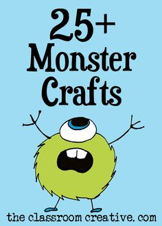 These monster crafts are so cute! Can't wait to try them! #monster #craft