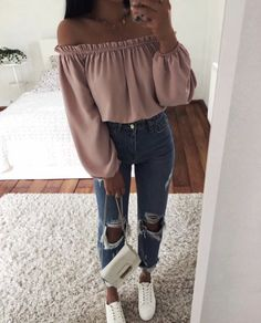 Insta outfit ideas, cute outfits casual wear, veja sneakers on stylevore Teenage Outfits, Teen Fashion Outfits, Fashion Mode, College Outfits, Cute Fashion, Outfits For Teens, Fashion Trends, Tumblr Fashion, Trendy Teen Fashion
