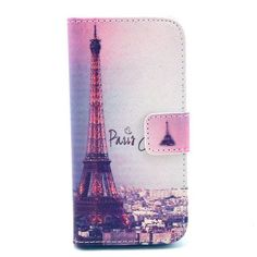 For iphone SE Wallet Style Flip Case with Eiffel Cute Print For iphone 5 5S 5G Stand PU Leather Cell Phone Protective Cover