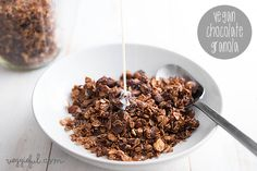 Vegan Chocolate Hazelnut Granola Recipe