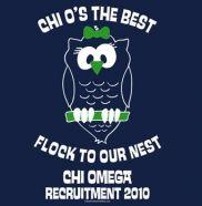 *Cute owl!* Chi Omega recruitment! :o)