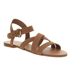 Office Hawaii tan leather sandals