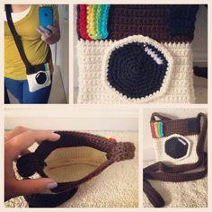 Ready, Set, Hook! - Instagram Pouch - free crochet pattern.