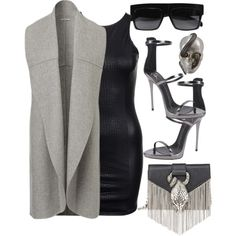A fashion look from October 2015 featuring Giuseppe Zanotti sandals, Yves Saint Laurent shoulder bags and Theo Fennell rings. Browse and shop related looks.