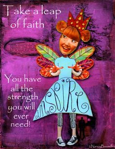 Day 79 Faith by Nancy Baumiller ©2016 All Rights Reserved - 3654 Days of Spirit Art Journaling for Artists project  Creds:  Odd People: (retired)