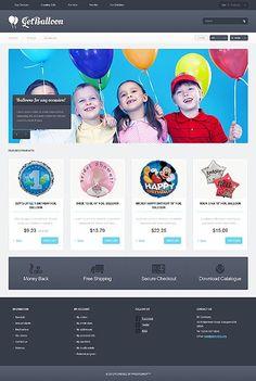 'Get Balloon' PrestaShop Template 45082 http://www.zign.nl/45082