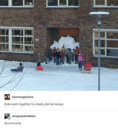 Kids work together to create eternal recess - iFunny :) Stupid Funny Memes, Funny Relatable Memes, Haha Funny, Funny Cute, Funny Stuff, 9gag Funny, Funny Things, Funny Tweets, Random Stuff
