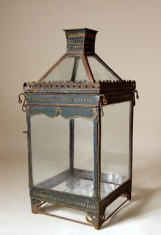 Painted Tole Lantern, 19th century French