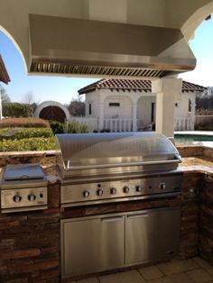even on a patio/porch area - outdoor kitchens are prefect