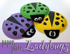 Paper Plate Lady Bugs Craft