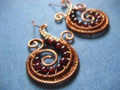 Plum Garnet Earrings FREE US SHIPPING by catchalljewelry on Etsy