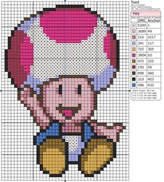 Mario Toad Pattern