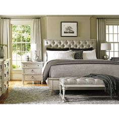 Oyster Bay Collection by Lexington Home Brands Sag Harbor Tufted Upholstered Bed Bedroom Sets, Home Bedroom, Bedroom Furniture, Bedroom Decor, Beach Furniture, Bedroom Themes, Bedroom Designs, Kitchen Furniture, Beach Bedrooms