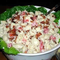 BLT Pasta Salad!  Made this today....it is awesome!