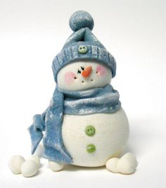 Free pattern for polymer clay snowman