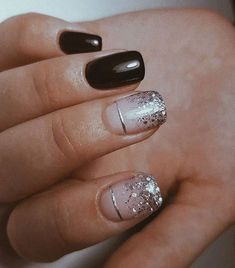 The Effective Pictures We Offer You About nails winter acrylic A quality picture can tell you many t Get Nails, Love Nails, Pink Nails, Pretty Nails, Nagellack Design, Nagellack Trends, Sparkle Nails, Glitter Nails, Dipped Nails