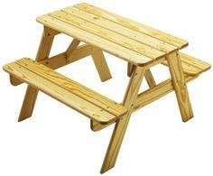 Children's Wood Picnic Table