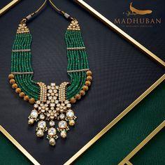 Fancy Jewellery, Gold Jewellery Design, Gold Jewelry, Antique Jewellery, Pearl Necklace Designs, Beaded Jewelry Designs, Fashion Jewelry, Manubhai Jewellers, Sherwani