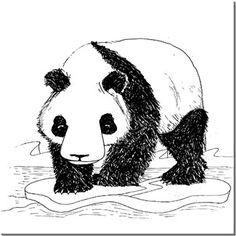 Alper Çelik - Bahtsız Panda - Kendin Tasarla - HDF Magnet 8x8cm