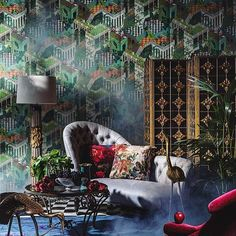 #interiordesign #decor #TODesign via cole_and_son_wallpapers