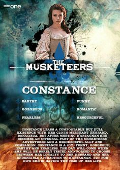 "Constance Bonacieux in BBC One""s adaptation of The Musketeers"