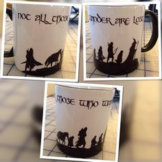 Not all those who wander are lost LOTR coffee by OnDisplayGraphix, $12.00