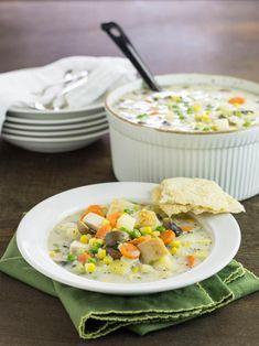 Turkey Pot Pie Soup | HGTV >> http://www.hgtv.com/design/make-and-celebrate/entertaining/turkey-pot-pie-soup?soc=pinterest