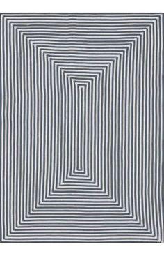 Concentric stripe rug